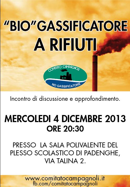 MERCOLEDI 4 DICEMBRE 2013 INCONTRO SULL'IMPIANTO a BIOGAS A LONATO